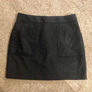 NEW J Crew black & grey checkered skirt size 12